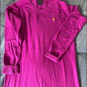 Ralph Lauren pretty purple long sweater.